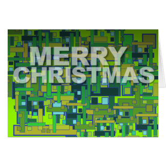 Vert moderne de carré de motif de carte de Joyeux