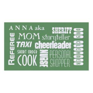 Vert moderne de télécarte de maman carte de visite standard