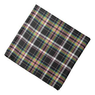 Vert olive et noir de tartan de conception moderne bandanas