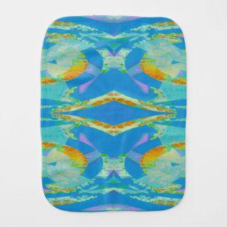 Vert orange bleu d'art abstrait linges de bébé