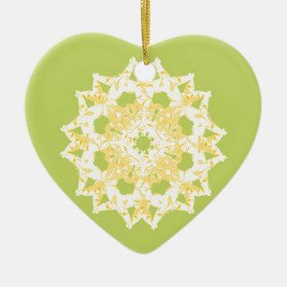 vert ornement cœur en céramique