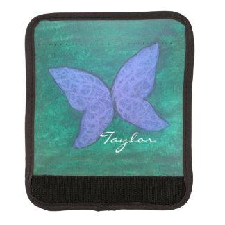 Vert pourpre nommé passionné de papillon du voyage protège poignée pour bagage
