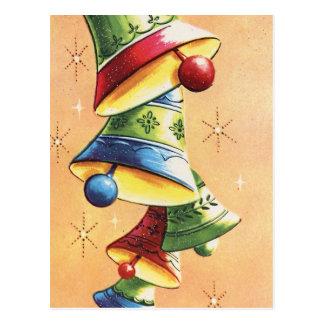 Vert rouge et Bells de sonnerie bleues Carte Postale