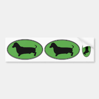 Vert-Simple ovale de teckel Autocollant Pour Voiture