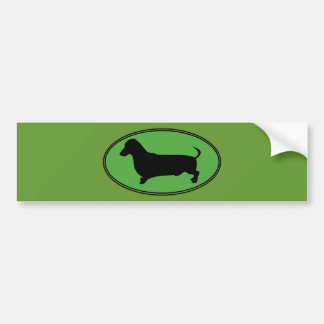 Vert-Simple ovale de teckel Adhésif Pour Voiture