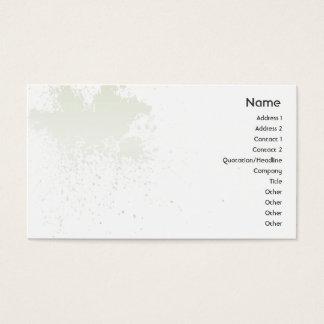 Vert sur l'éclaboussure blanche - affaires cartes de visite