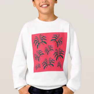 Vert tiré par la main de luxe de cru de paumes sweatshirt