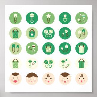 Vert tout de bébé poster