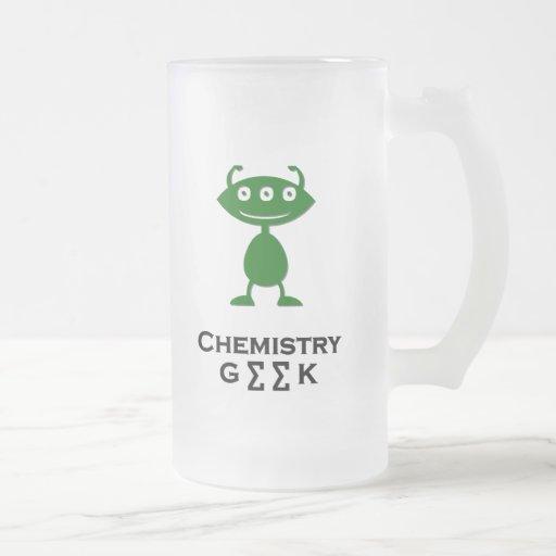 Vert triple de geek de chimie d'oeil mugs à café