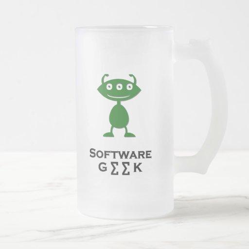 Vert triple de geek de logiciel d'oeil tasse à café