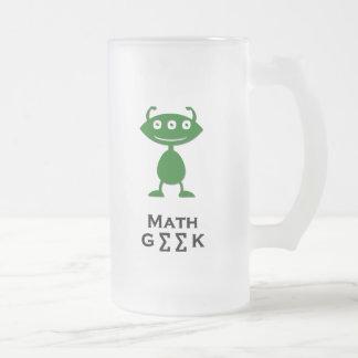 Vert triple de geek de maths d'oeil mugs à café