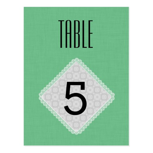 Vert V40 de ressort de nombre de Tableau de mariag Cartes Postales