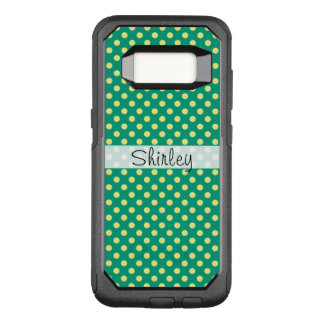 Vert vert avec le pois jaune par STaylor Coque Samsung Galaxy S8 Par OtterBox Commuter