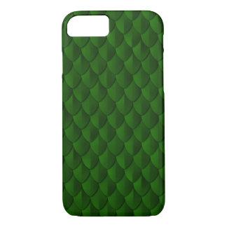 Vert vert d'armure d'échelle de dragon coque iPhone 7