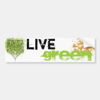 Vert vivant autocollant pour voiture