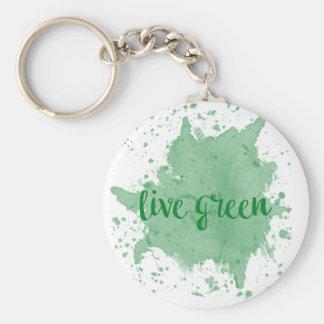 Vert vivant porte-clé rond