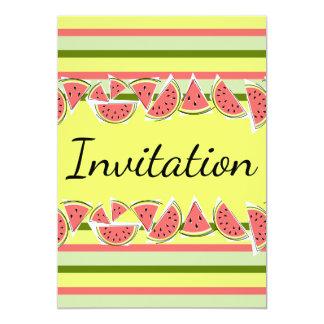 Verticale classique d'invitation de rayure de carton d'invitation  12,7 cm x 17,78 cm