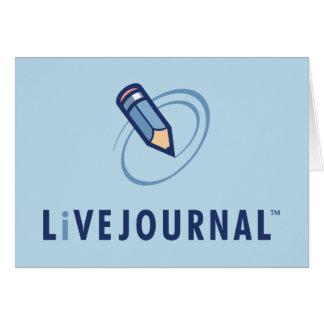 Verticale de logo de LiveJournal Carte De Vœux