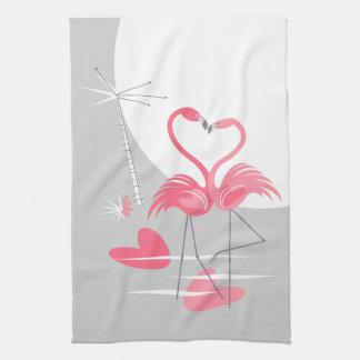 Verticale de serviette de cuisine de lune d'amour