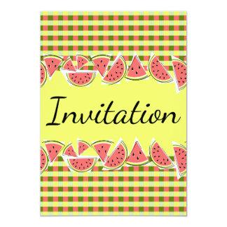 Verticale d'invitation de contrôle de pastèque carton d'invitation  12,7 cm x 17,78 cm