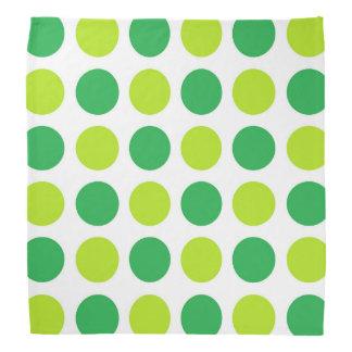 Verts de point de polka bandana