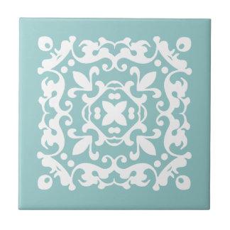 Verts en bon état décoratifs et le blanc petit carreau carré