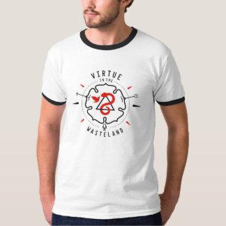 Vertu dans la chemise de terre en friche t-shirt