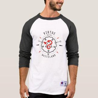 Vertu dans le base-ball T de terre en friche T-shirt