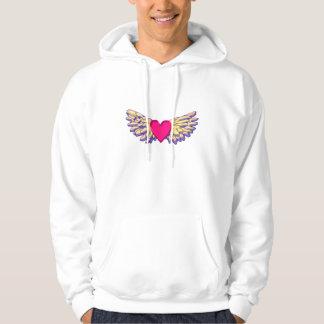 Veste À Capuche ailes de coeur