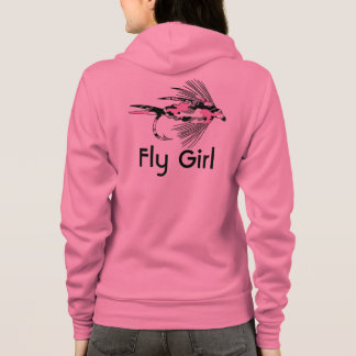 Veste À Capuche Attrait rose de pêche de mouche de Camo