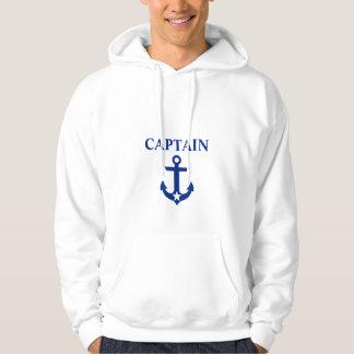 Veste À Capuche Capitaine nautique Anchor Star White