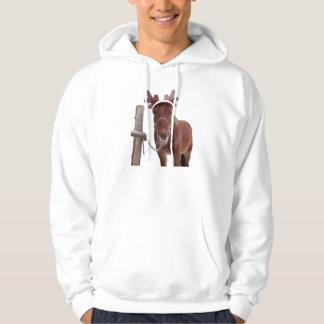 Veste À Capuche Cerfs communs de cheval - cheval de Noël - cheval