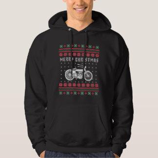 Veste À Capuche Chandail laid de Noël de moto vintage