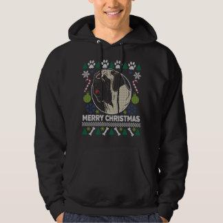Veste À Capuche Chandail laid de Noël de race de chien de mastiff
