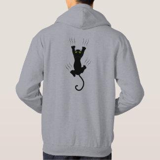 Veste À Capuche Chat drôle tombant et grabing avec des griffes