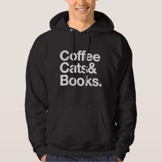 Veste À Capuche Chats et livres de café