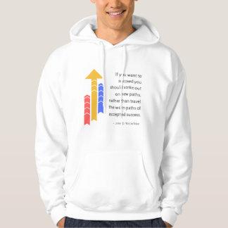 Veste À Capuche Chemin à la chemise de motivation de citation de