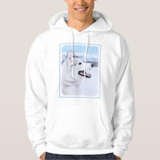 Veste À Capuche Chien de traîneau sibérien (argent et blanc)