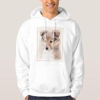 Veste À Capuche Chiot de chien de berger de Shetland