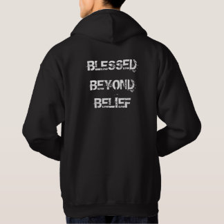 Veste À Capuche Chrétien béni au delà de la croyance