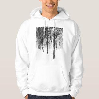 Veste À Capuche comme je dégrossis avec des arbres