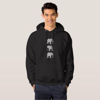 Veste À Capuche Contraste noir de cool de blanc d'éléphants de