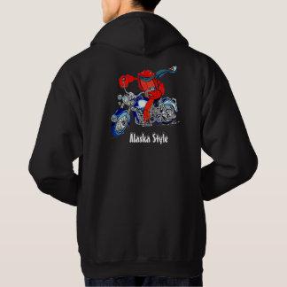 Veste À Capuche Couleur de moto limule de style de l'Alaska