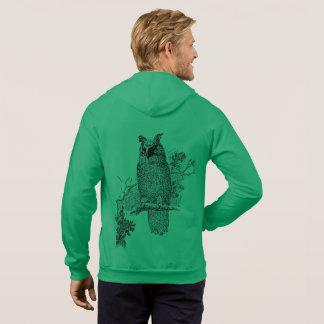 Veste À Capuche Destin animal de destin de vert d'arbre d'oiseau