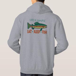 Veste À Capuche Dire drôle de pêche : Mangez les poissons de