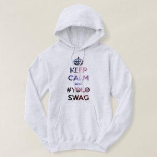 Veste À Capuche Gardez le calme et le #yoloswag