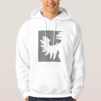 Veste À Capuche Geai Niani - griffon coupé par logo central - gris