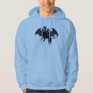 Veste À Capuche Graphique d'égouttement de peinture de Batman