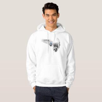 Veste À Capuche Hibou blanc