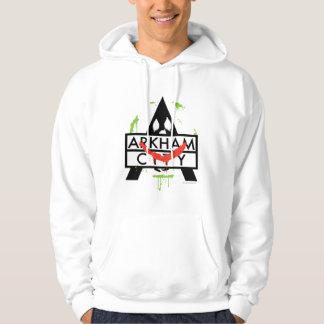 Veste À Capuche Icône de ville d'Arkham avec les marques 2 de